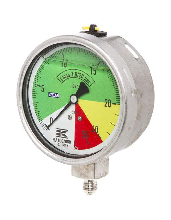"1//4/"" WIKA Manometro pressione 60 bar ø63mm"
